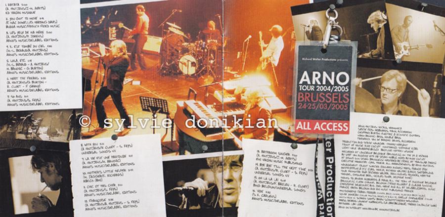 Livrets CD et DVD Arno 1/4