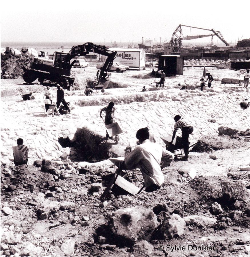 Chantiers des fouilles dans les quartiers du Centre – Ville de Beyrouth