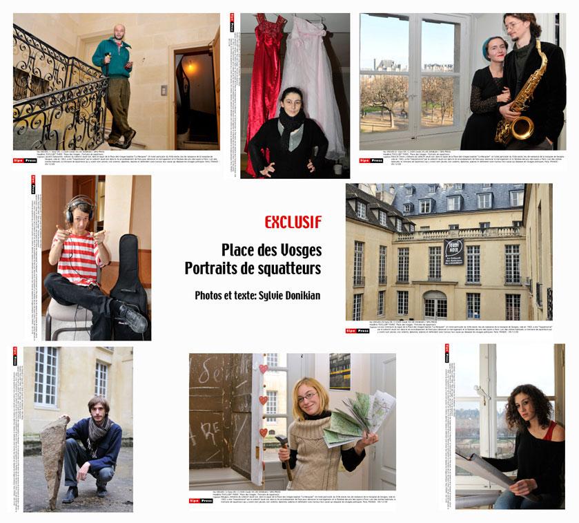 """""""Squatteurs Place des Vosges"""" Paris – Reportage Photos"""